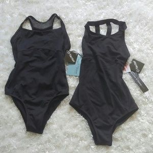 Danz N Motion size 12/14 girls black leotards